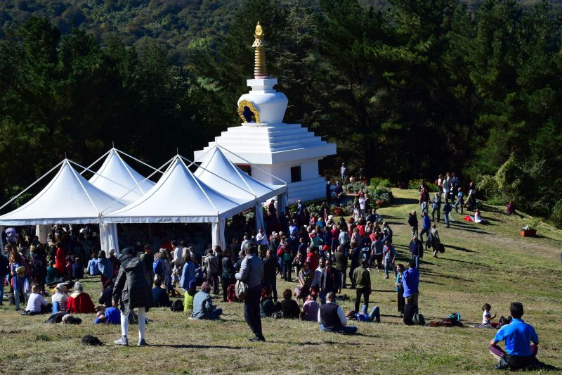ceremony great stupa costantino albini