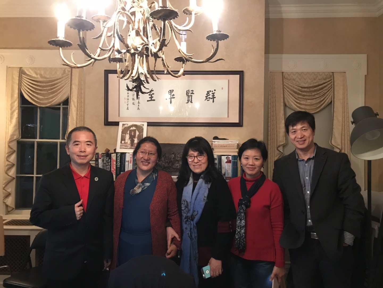 Menpa Phuntsog Wangmo addressed Harvard Visiting Scholars