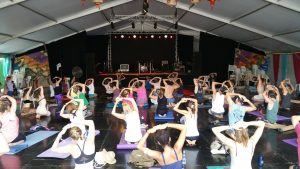 Yantra Yoga at the Woodford Folk Festival, Australia