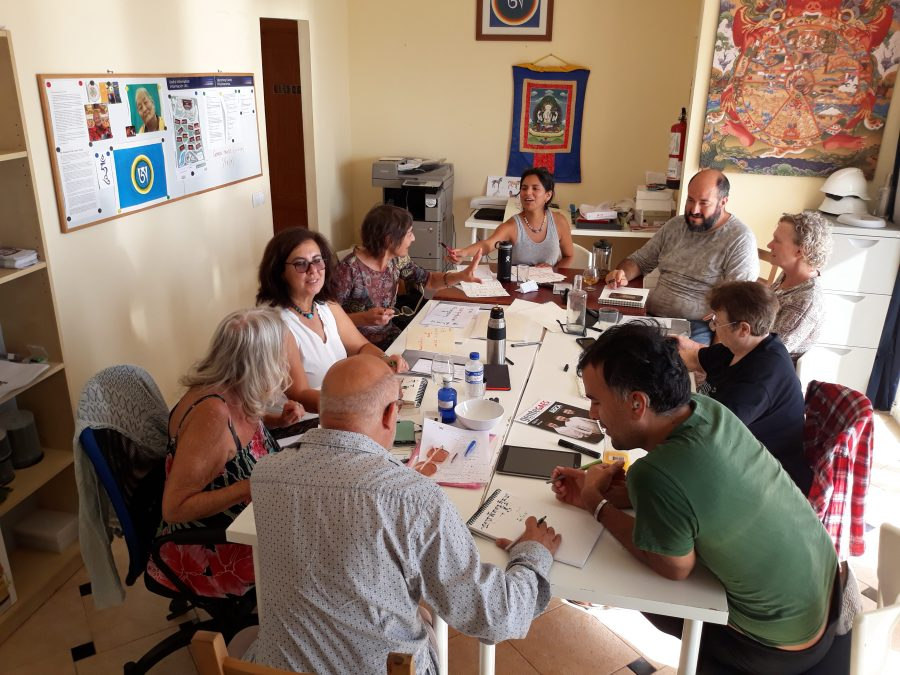 tibetan calligraphy dzamling gar