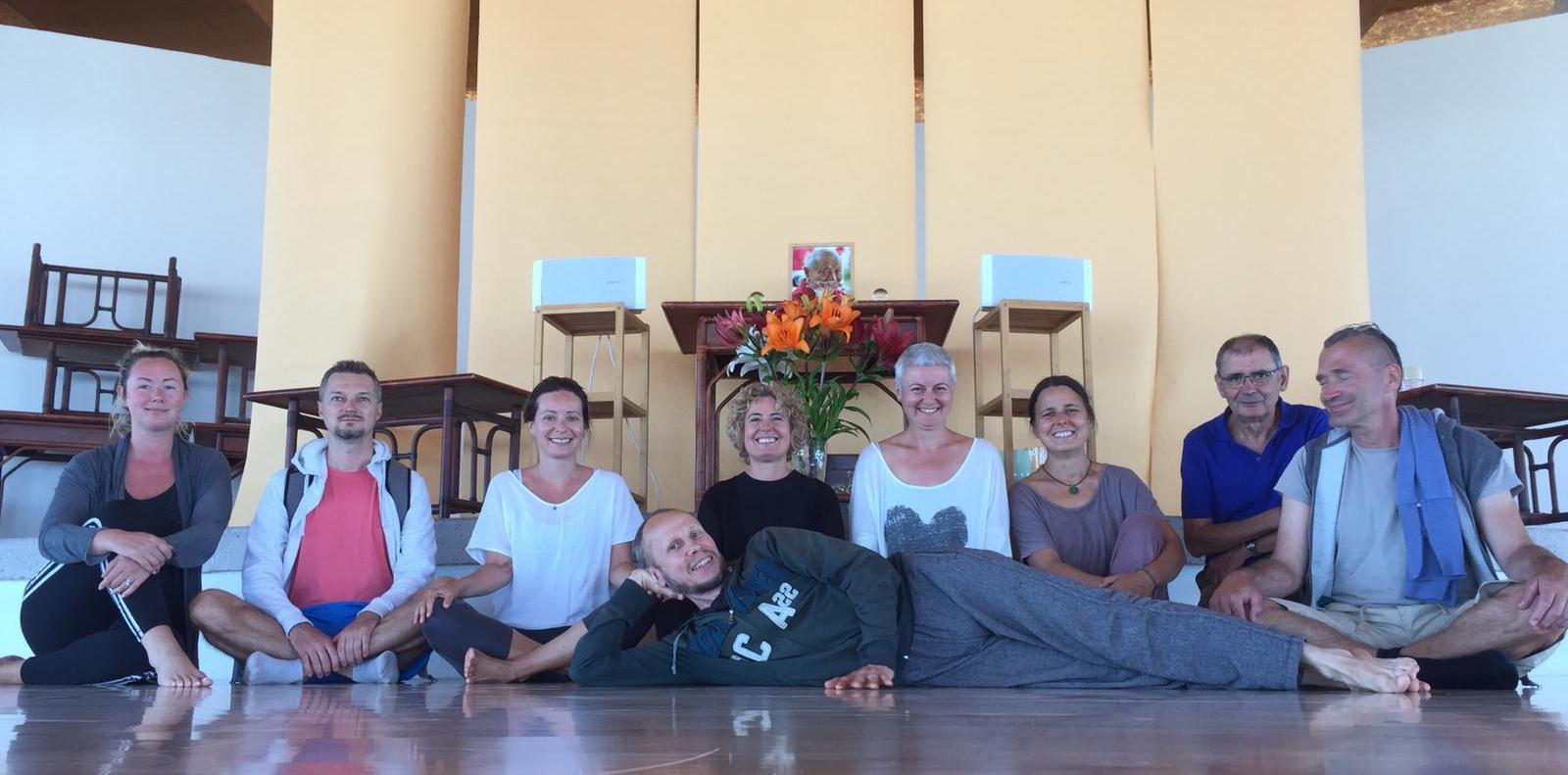Breathing and Yantra Yoga at Dzamling Gar
