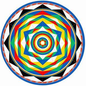 Vajra Dance Mandalas Coloring Template
