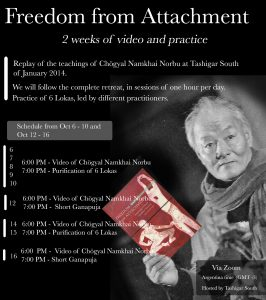 Freedom from Attachment: Tashigar South Online Practices
