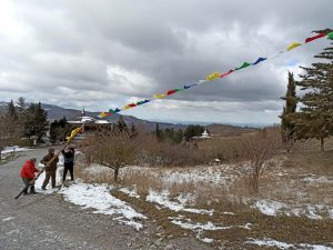 The Merigar Prayer Flags