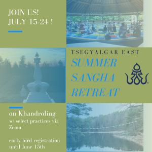 Tsegyalgar East Practice Schedule for the Week of May 30
