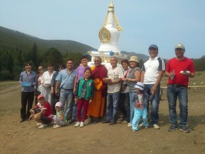 Namgyal Stupa in Erkherik