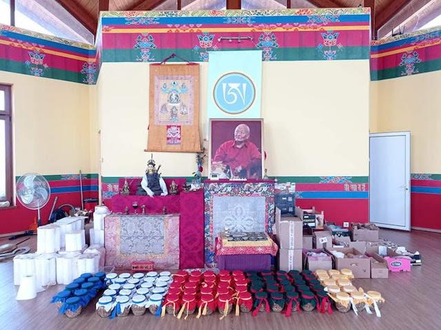 Stupa Filling with Migmar Tsering Live Via Zoom